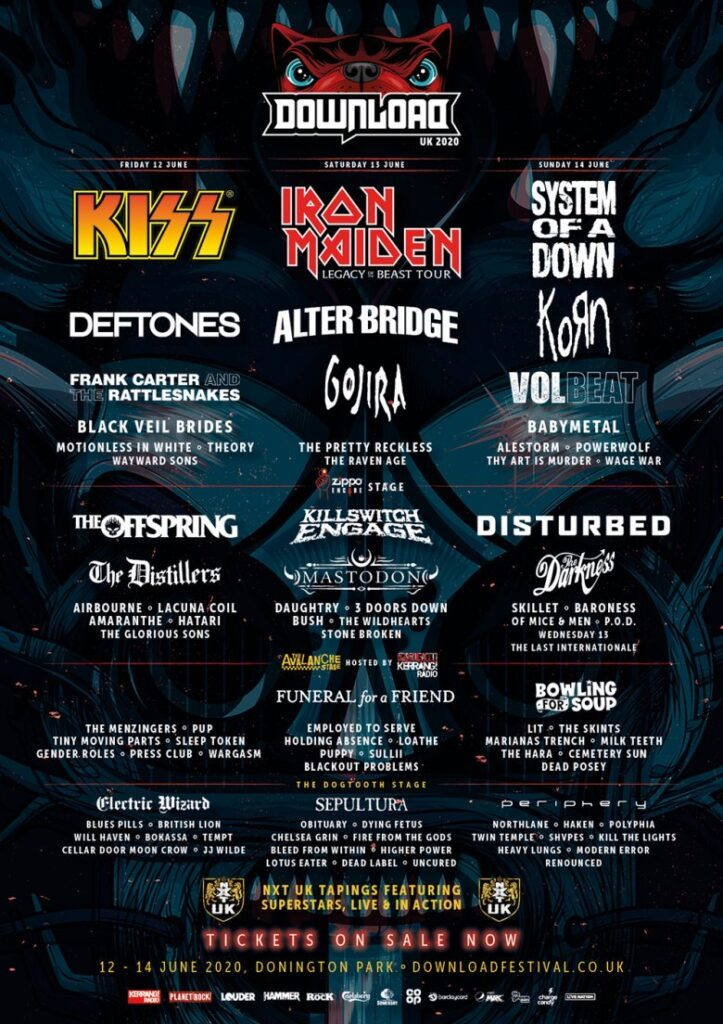 Download Festival Adds Over 40 Bands To Its 2020 Lineup