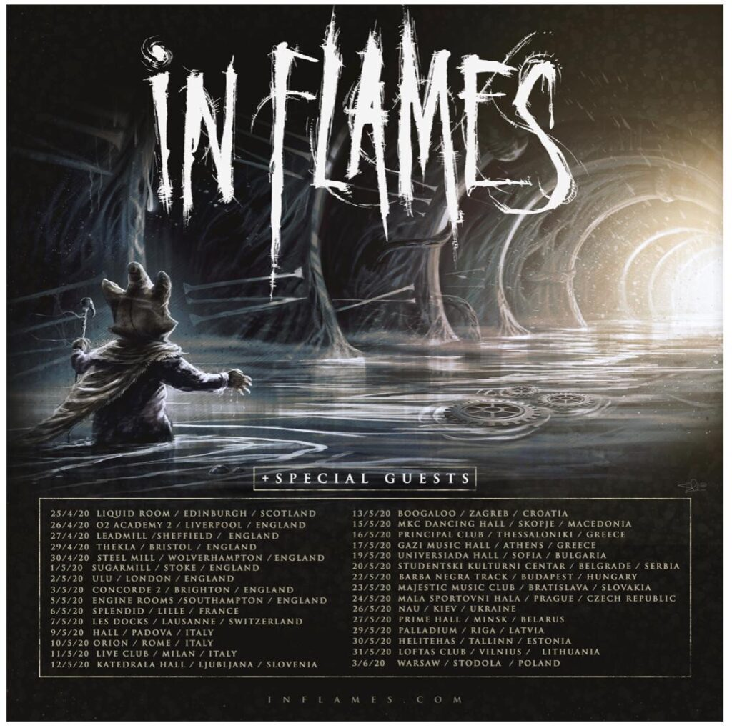 In Flames Announce U.K. Tour For This April