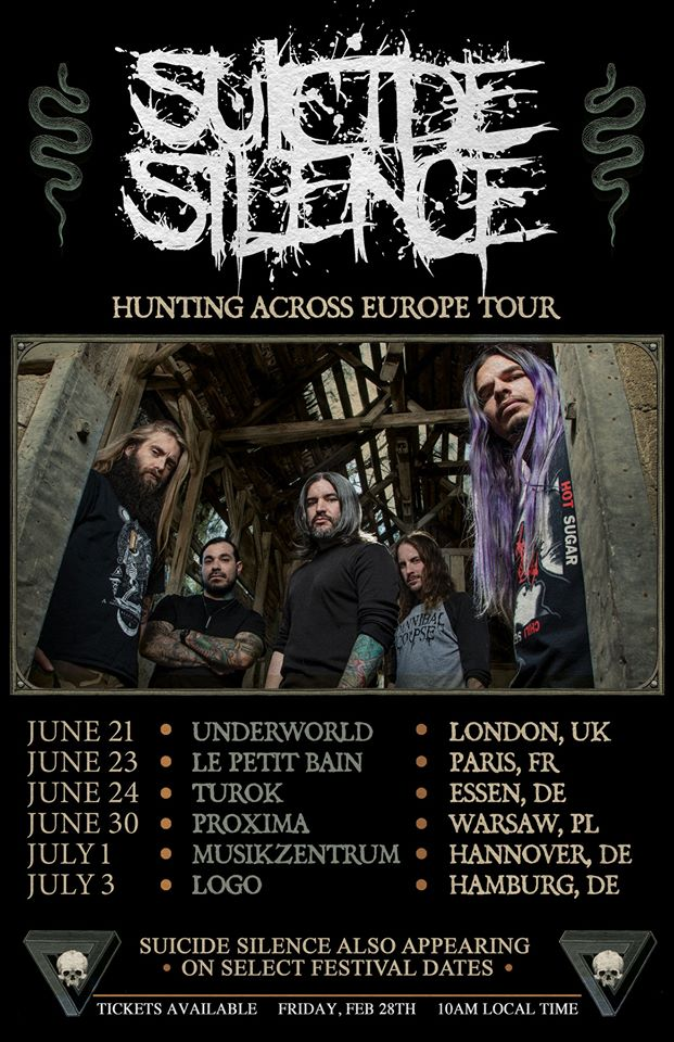 Suicide Silence Announce London Show