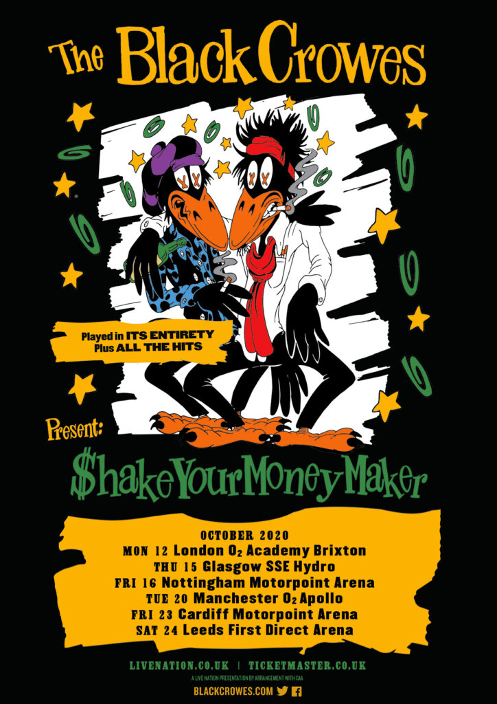 The Black Crowes Announce Shake Your Money Maker Tour