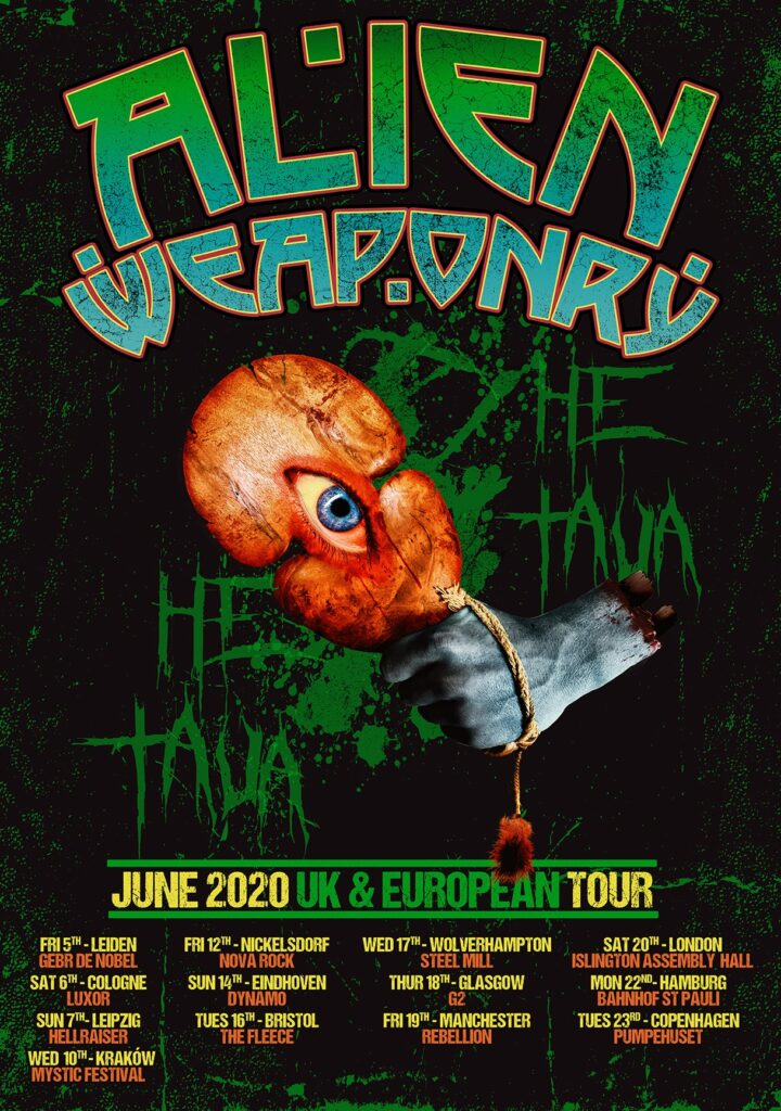 Alien Weaponry Return To The UK This June
