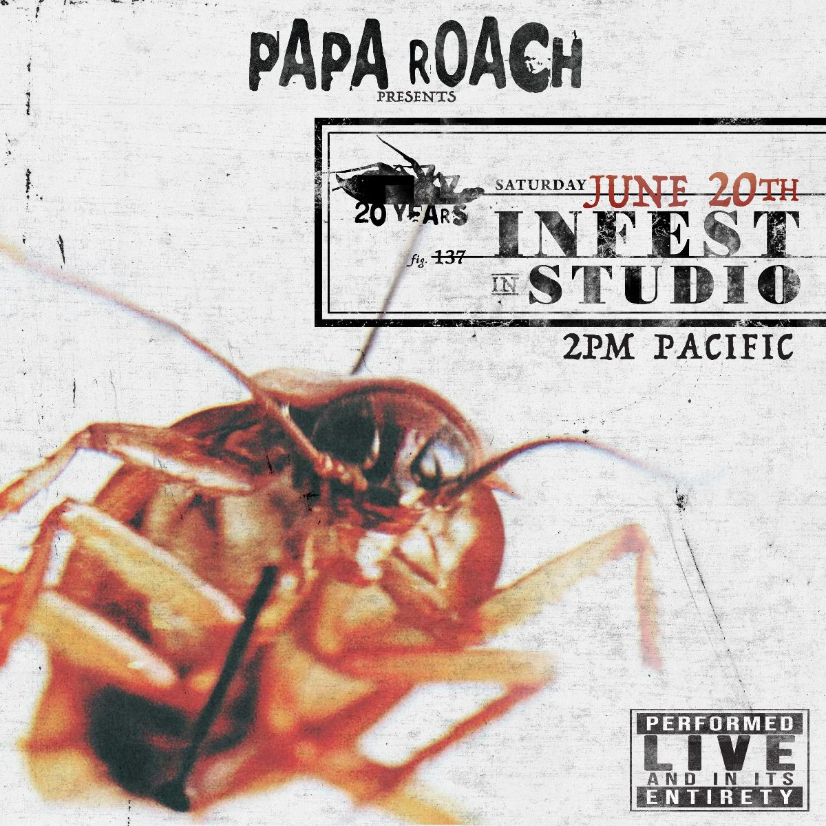 Papa Roach Announce 'Infest In Studio' Performance